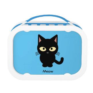 Lunch Box Bande dessinée mignonne de meow de chat noir
