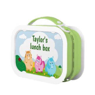 Lunch Box Bande dessinée mignonne de petits poneys colorés,