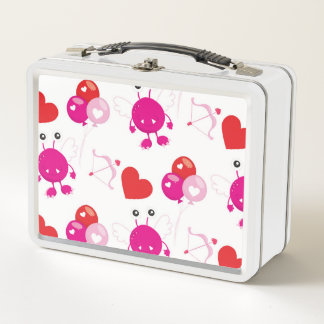 Lunch Box Cadeau mignon d'amour de monstre de Valentine de