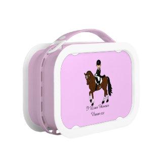 Lunch Box Cadeaux pour des filles - chevaux d'amour d'I - ca