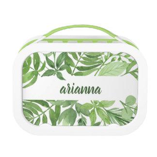 Lunch Box Cadre botanique vert Luxe du feuille |