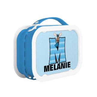 """Lunch Box Camouflage décoré d'un monogramme de """"M"""""""