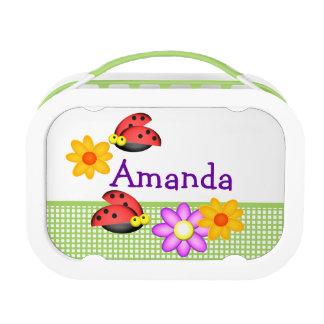 Lunch Box Coccinelles et fleurs personnalisées