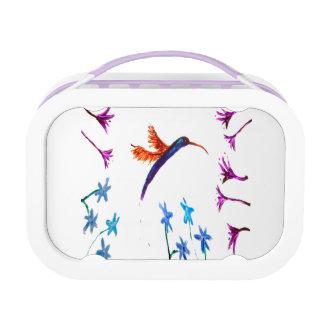 Lunch Box Colibri floral d'art d'oiseau