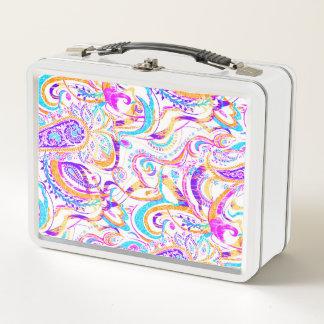 Lunch Box Conception colorée blanche mignonne de Paisley