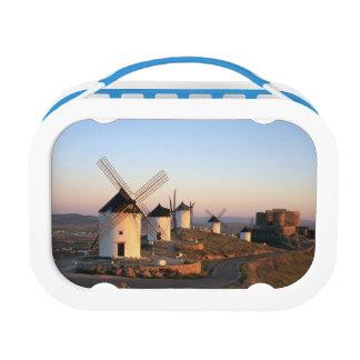 Lunch Box Consuegra, La Mancha, Espagne, moulins à vent