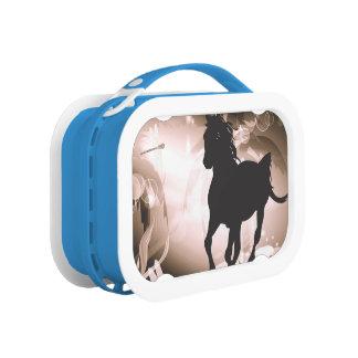 Lunch Box Cru, silhouette noire de cheval