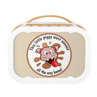 Lunch Box Drôle ce petit porcin est allé Weeee