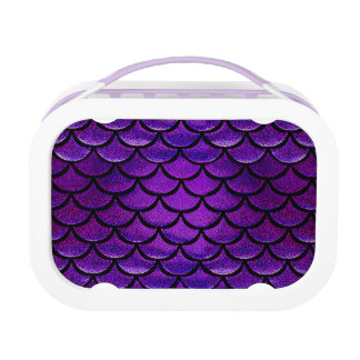 Lunch Box Échelles pourpres et bleues de Falln de sirène