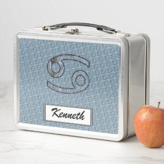 Lunch Box Élément de symbole de zodiaque de Cancer par