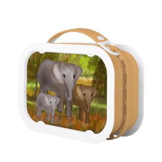 Lunch Box Éléphants dans la forêt tropicale