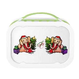 Lunch Box Éléphants mignons de bande dessinée de Père Noël