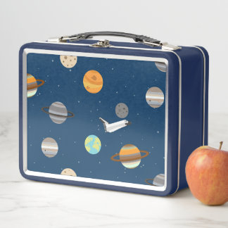 Lunch Box Exploration de planète de navette spatiale de