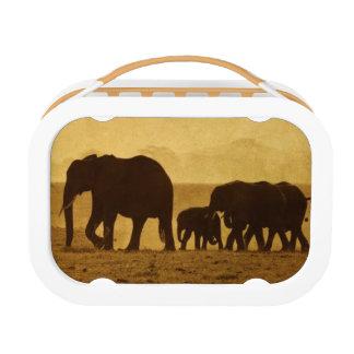 Lunch Box Famille d'éléphant