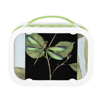 Lunch Box Feuille avec l'encart de libellule par Jennifer