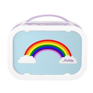 Lunch Box Filles mignonnes d'arc-en-ciel personnalisées