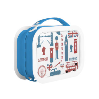 Lunch Box Gamelle de souvenir d'amour d'icônes de Londres ré
