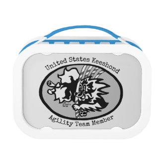 Lunch Box Gamelle d'équipe d'agilité de Keeshond des
