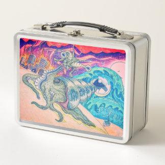Lunch Box Gamelle en métal d'apocalypse de chèvre de zombi