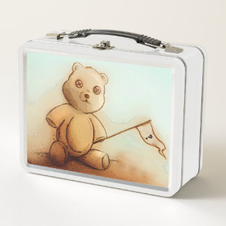 Lunch Box Gamelle vintage originale en métal d'art -