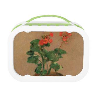 Lunch Box Géraniums dans un pot, c.1905 (huile sur la toile)