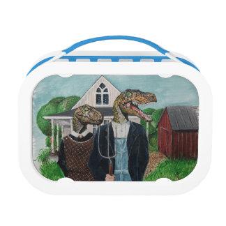 Lunch Box Gothique américain de Velociraptor