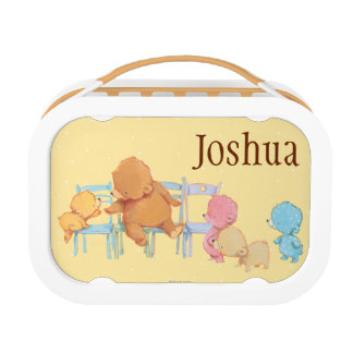 Lunch Box Grands ours de Brown et chaises de la part quatre