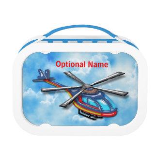 Lunch Box Haut hélicoptère de vol dans les nuages