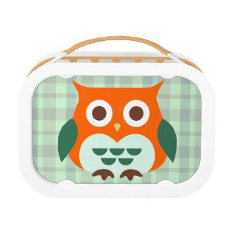 Lunch Box Hibou orange mignon