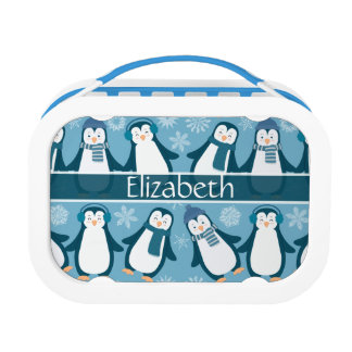 Lunch Box La conception mignonne de pingouins d'hiver