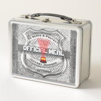 Lunch Box La police drôle Badge