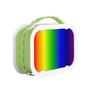 Lunch Box L'arc-en-ciel colore le vert de gamelle