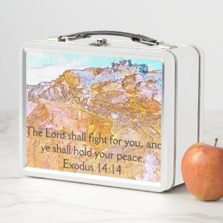 Lunch Box L'écriture sainte de seigneur Shall Fight For You