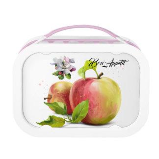 Lunch Box Les pommes, fleurit et éclabousse