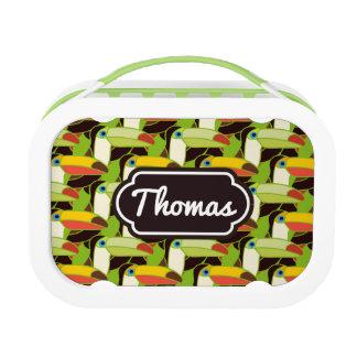 Lunch Box Les toucans colorés | ajoutent votre nom