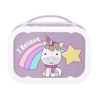 Lunch Box Licorne et arc-en-ciel mignons de bébé de bande