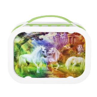 Lunch Box Licornes de royaume d'arc-en-ciel