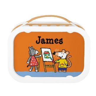 Lunch Box Maisy et peinture pointillée à l'école maternelle