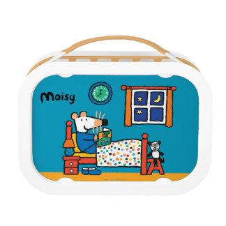 Lunch Box Maisy prête pour des pyjamas de bleu de lit