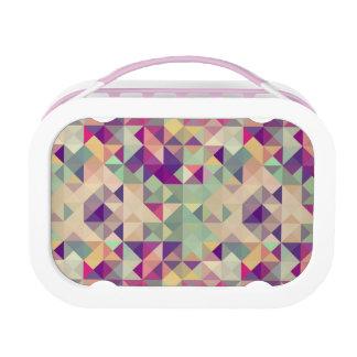 Lunch Box Modèle géométrique de hippies vintages