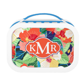 Lunch Box Monogramme coloré du motif | de ketmie