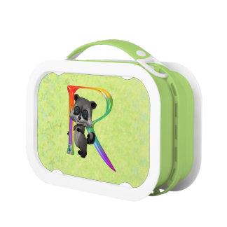 Lunch Box Monogramme nerd mignon R de raton laveur