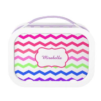 Lunch Box motif coloré de zigzag de chevron