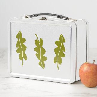 Lunch Box Motif de feuille de vert de ressort de nature,