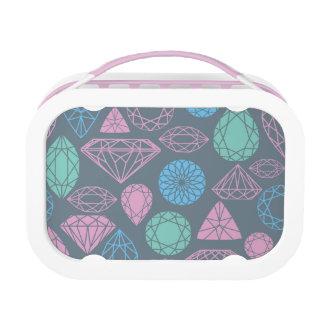Lunch Box Motif d'icône de pierre gemme