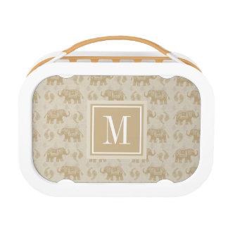 Lunch Box Motif kaki de caravane d'éléphant
