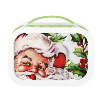 Lunch Box Noël vintage de houx du père noël