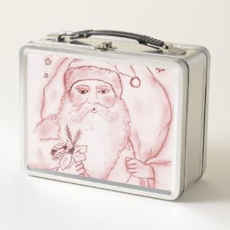 Lunch Box Père Noël démodé en canneberge