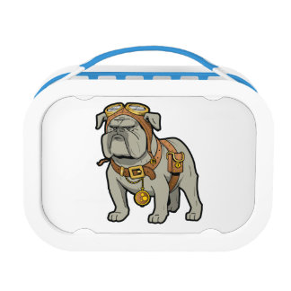LUNCH BOX PILOTE ANGLAIS DE BOULEDOGUE