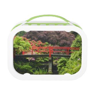 Lunch Box Pont de coeur avec les rhododendrons de floraison,